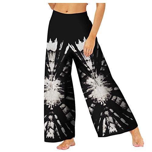 Junjie Pantalones Deportivos Suelto Boho de Impreso Cintura de Elásticos Pantalón Ropa Deporte Cintura Media Leggins Mujer de Yoga Fitness Training