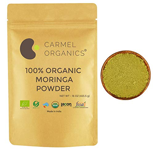 Organic Moringa Leaves Powder | 16 Oz | Non GMO | Kosher | Vegan | Super Food for Smoothies and Drinks