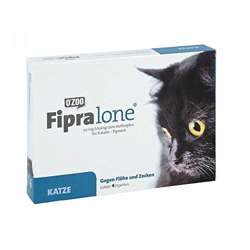 Fipralone 50 mg Lösung zum Auftropfen für Katzen, 4 St