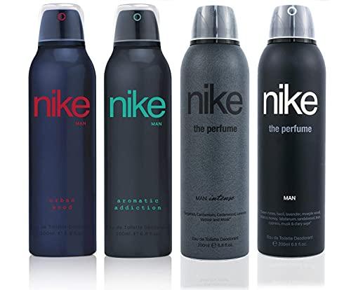 Nike Men Deo Set 4x200ml (Urban Wood/Aromatic Addiction/Intense/The Perfume Man)