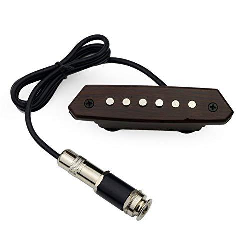 Pastilla de guitarra Transductor acústico eléctrico para guitarra acústica con captador pasivo profesional para guitarra acústica Preamplificador magnético con tono y control de volumen para amantes d