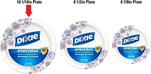 Dixie HD Paper Plates, 10 1/16 Inches, 150 Count (Design May Vary)
