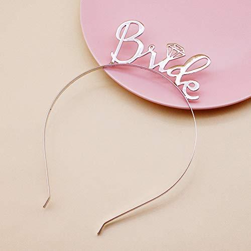 Bruid Letter Gast Bruiloft Legering Eenvoudige Haarband Ingaly Banket Accessoires