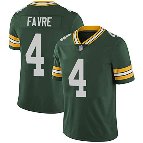 Rugby-Trikot Green Bay Packers 4, 12, 17 Rodgers Legend Besticktes Trikot,4,XXXL