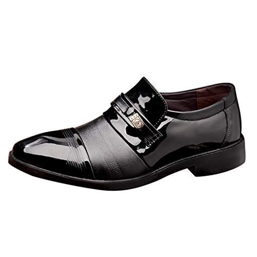 Briskorry Zapatos de piel para hombre, cómodos, de negocios, a la moda, para hombre, de negocios, informales, cómodos, para vestir