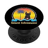 Vintage Sunset Dog Giant Schnauzer PopSockets PopGrip: Agarre intercambiable para Teléfonos y Tabletas