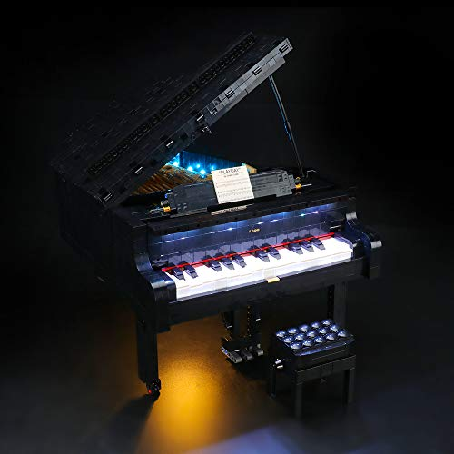 LIGHTAILING Light Set with a Remote-Control for (Ideas Grand Piano Building Blocks Model - Led Light kit Compatible with Lego 21323 (NOT Included The Model)