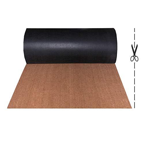 Olivo.Shop – Rollo de coco, 1 m, felpudo de fibra de coco natural, atrapa la suciedad, a medida, de entrada (100 x 80 cm)