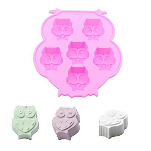 Kleine Tier Eule Form Hände Form Silikon Kuchen Dekorationswerkzeuge Seife Schokoladenkuchen Formen Fondant Dekoration Backwerkzeuge, wie Bild