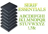 Sizzix Bigz Serif Essentials EL Smith - Juego de 7 troqueles, diseño de alfabeto, multicolor