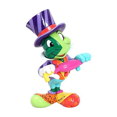 Enesco 6006087 Disney by Britto Pinocchio Jiminy Cricket Miniature Figurine, 3.54 Inch, Multicolor