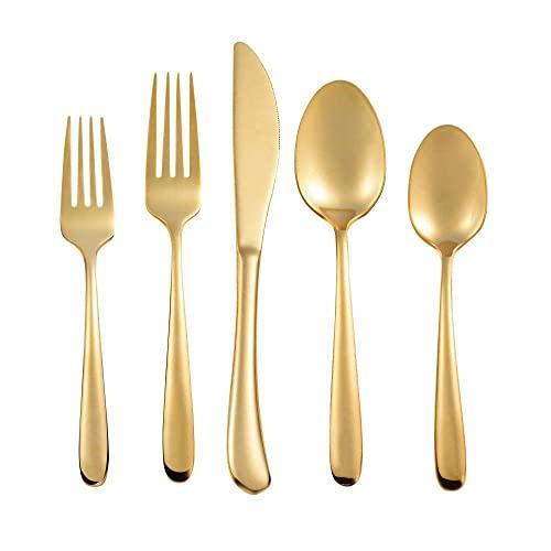 Juego de cubiertos con utensilios para servir, 20 piezas, vajilla de cocina para el hogar, juego de cubiertos de acero inoxidable, cuchillos para cenar, tenedores, cucharas, cubiertos, cubiertos, ser