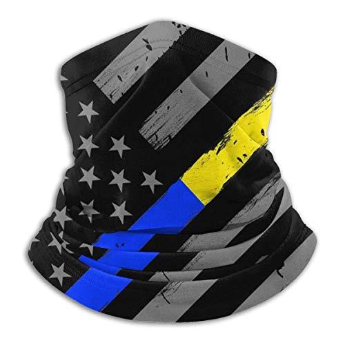 Not Fina línea de oro azul bandera de policía Dispatcher lavable reutilizable esquí frío tiempo pasamontañas cuello cara Ma-s-k para hombres mujeres invierno sombrero protección UV polvo