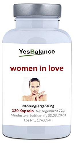 WOMEN IN LOVE - yesBalance   Wirkstoffe für die Frau   120 Kapseln