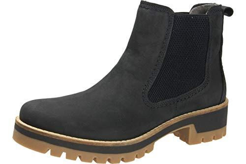 camel active Damen Diamond 72 Chelsea Boots, Blau (Denim 3), 40 EU