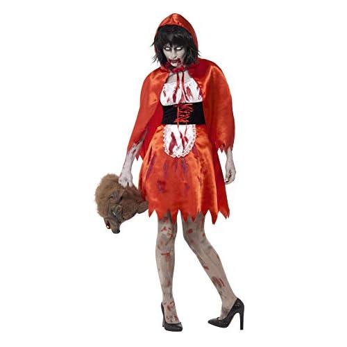 SMIFFYS Costume Cappuccetto rosso zombie, rosso, con abito e mantella