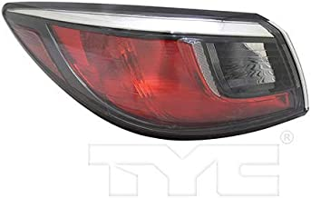 CarLights360: Fits 2017 2018 Toyota Yaris iA Tail Light Assembly Driver Side (Left) DOT Certified w/Bulbs Halogen Type - Replacement for TO2804127