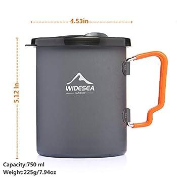 Widesea Cafetière de Camping à Piston 750 ml ? Presse française ? Léger et portable ? Pour voyage, randonnée, bivouac