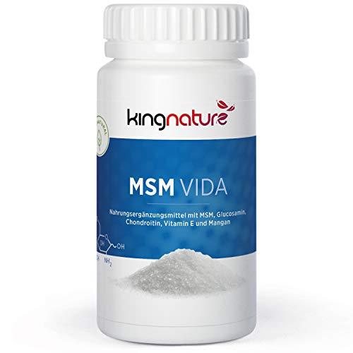 MSM Vida - 60 Kapseln mit MSM, Chondroitine, Glucosamin und Vitamin E - Vegetarisch - Gelenkformulierung Dr. med. Lüscher