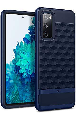 Hülleology Parallax Kompatibel mit Samsung Galaxy S20 FE Hülle, Stylisch Blau 3D Muster & PC Rahmen Stoßfest Modische Handyhülle Hülle für Samsung Galaxy S20 FE - Midnight Blue