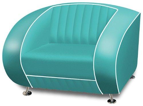 BelAir Amerikanischer Sessel retro style Möbel usa 50er Sofa Designer Sessel Gastronomie Möbel (Türkis)