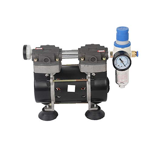 2- Stage 50L/m Oil Free Lab Vacuum Pump Oilless Medical Mute Pump HZW-165 (110V)