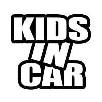 ForzaGroup (69-01) KIDS IN CAR キッズインカー セーフティー シンプル 防水 車 ステッカー sticker シール