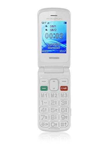 Brondi Amico Flip+ Telefono Cellulare, Bianco