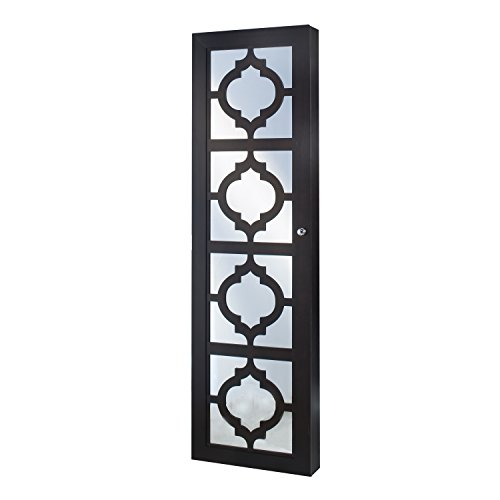 Best Dark Brown Wall Mounted Jewelry Cabinet