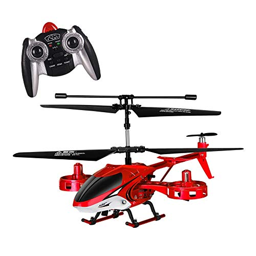 Kikioo Mini RC Helicopter Crash Resistance Gyro Remote Control Helicopter Outdoor / Indoor 4.5 Canali Hobby RC Flying 2 Blade Sostituire RC Incluso Plane Toy Gift for Kids ( Color : Red )