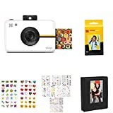 Kodak Step Camera with Premium Zink Photo Paper,Pocket Mini Photo Album,Colorful/Decorative Sticker Sets,Scam Sticker Sets,TTM Markers,Border Stickers-Frames,Photo-Square Frames,Soft Camera Case