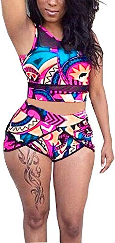 PiePieBuy Womens Plus Size African Print Inspired Two Piece Bikini Bathing Suit from L-4XL