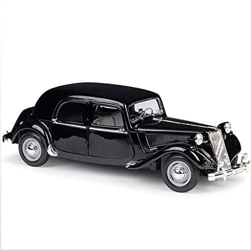 ZCYXQR 1:18 Modelo de colección de Coches amortiguadores de Coche clásico de Cuatro Ruedas, Puerta Que se Puede Abrir, colección de Regalos, Negro (Regalos de cumpleaños y Vacaciones)