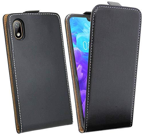 cofi1453® Flip Hülle kompatibel mit Huawei Y5 2019 Handy Tasche vertikal aufklappbar Schutzhülle Klapp Hülle Schwarz
