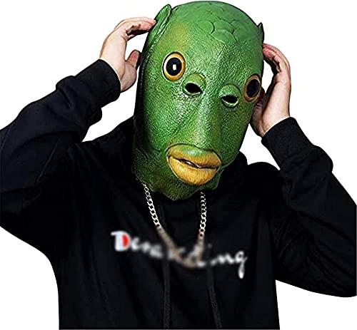 Animal ojos grandes máscara de peces máscara de látex divertido partido animal máscara cara máscara completa capucha para jugar a rol disfraz fiesta