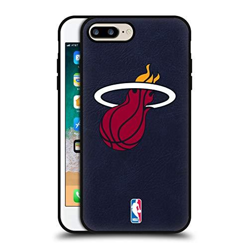 Head Case Designs Ufficiale NBA Miami Heat Logo Cover in Pelle Parte Posteriore Blu Compatibile con Apple iPhone 7 Plus/iPhone 8 Plus