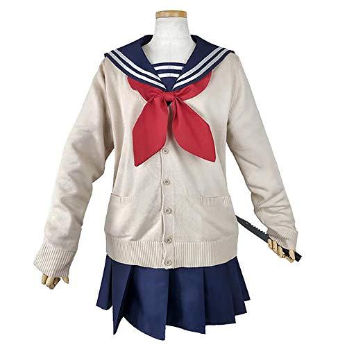 LJLis My Hero Academia Traje De Cosplay Disfraz De Cosplay De Anime Japonés Himiko Toga Vestido para Mujer