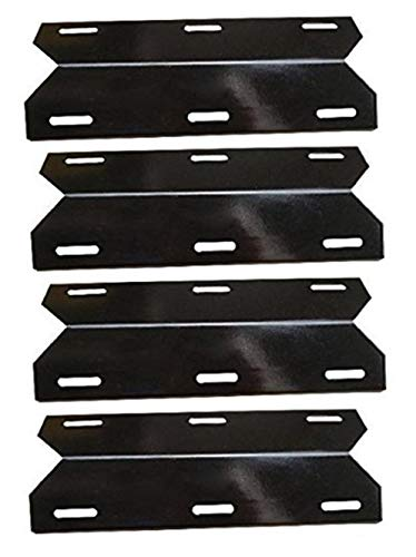 Hongso Heat Plate Replacement for Charmglow 720-0304, 720-0396, 720-0536, Perfect Flame 720-0522, Members Mark 720-0582, Nexgrill, Duro, 4-Pack 17 5/16 inch Porcelain Steel Heat Shield Tent PPC041