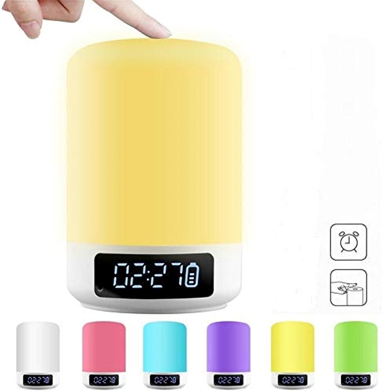 Nachtlicht-Kamera Smart Touch Bedside Lampe LED Bunte Holz-Grain Light Dimmable Charging Ambient Light