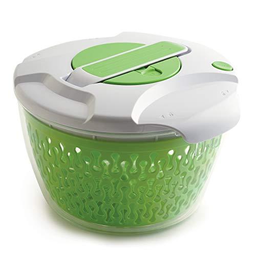 Norpro Deluxe Salad Spinner, 6.8 Quart, Green/White