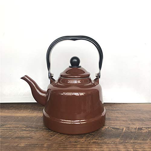Novel Emaille Teekanne Teekannen Kaffeekannen Emaille Antike Uhr Teekanne 1.1L Gießwasser Teekanne Retro Style, Bb1.1L Emaillierter Wasserkocher Emaille Wasserkocher