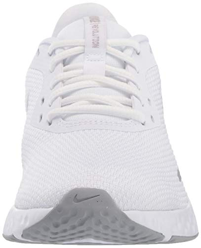 NIKE Revolution 5, Zapatillas Mujer, White/Wolf Grey-Pure Platinum, 40 EU