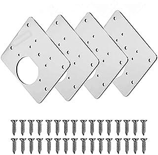 2/4 Stks Scharnier Reparatie Plaat, Keuken Scharnier Reparatie Plates, Scharnier Reparatie Kit voor Garderobe Deuren, Roes...