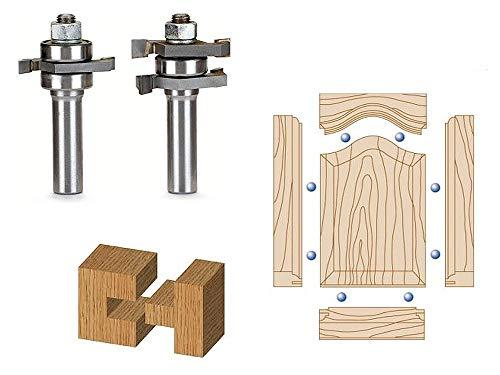 Whiteside Router Bits 5990 Shaker Straight Stile and Rail Set for Plywood Panel