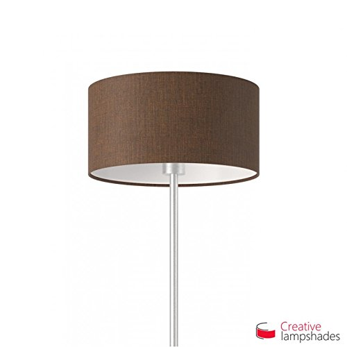 Creative lampshades lampenkap cilinder bruin camelot Amerikaans F10 Durchmesser 35cm - H. 22cm bruin