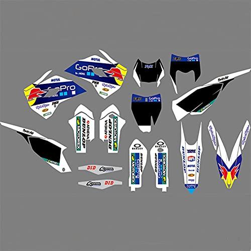 Decoración de la Motocicleta Etiqueta engomada Kits Gráficos para Husqvarna TE FE TC FC 2014 2015