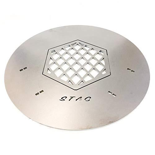 STAC Plancha | Premium kwaliteit grillplaat voor 57 kogelgrill | vuurring | vuurplaat | 6 mm dik.