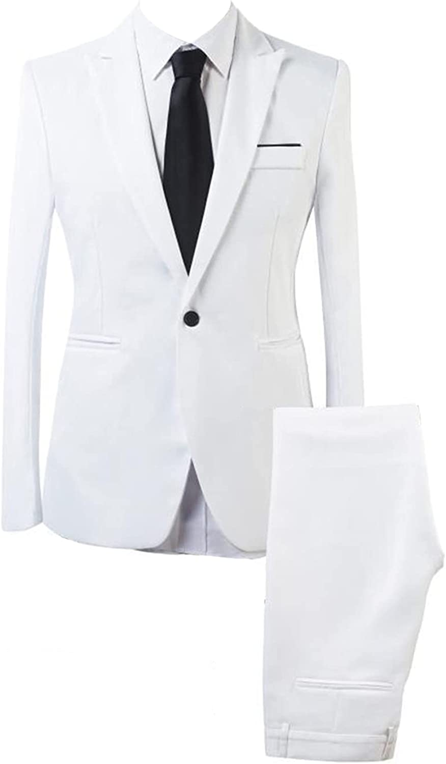 Men's Max 50% OFF 2 Piece Slim Fit Suit Set Business S Cheap mail order specialty store 1 Prom Button Wedding