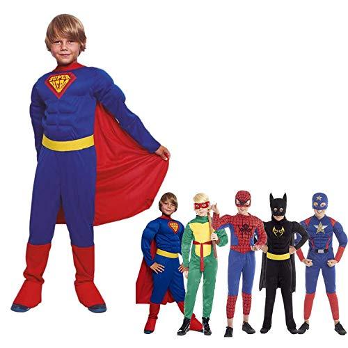 Disfraz Superhroe Sper Nio con CapaTallas Infantiles[Talla 5-6 aos]   Disfraces Nios Superhroes con Capa Antifaz Cosplay Hroes para Carnaval Halloween Cumpleaos Fiesta Disfraces