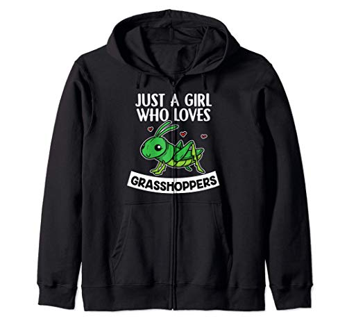 Just A Girl Who Loves Grasshoppers Disfraz De Saltamontes Sudadera con Capucha